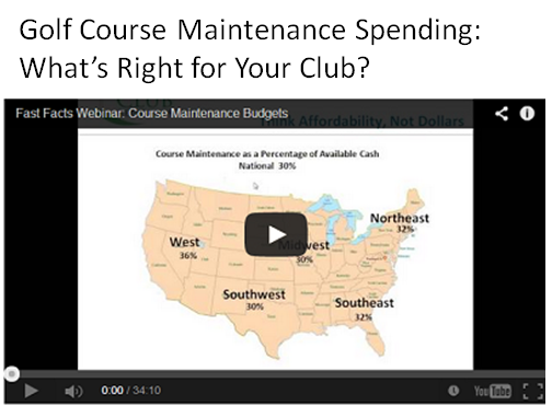 golf course maintenance spend