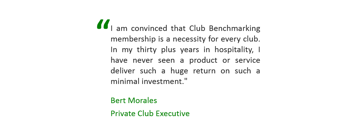 value of club benchmarking